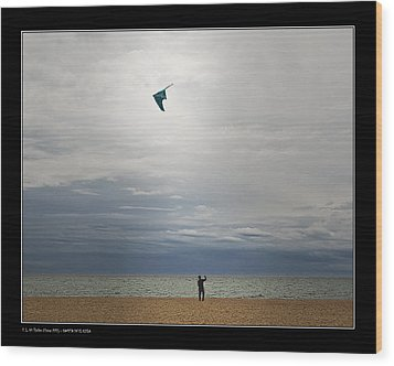 Wood Print featuring the photograph Kite In The Sky by Pedro L Gili