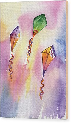 Kite Rockets Wood Print by Lydia Irving