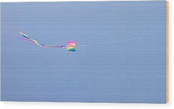 Kites 8 Wood Print by Elizabeth  Sullivan
