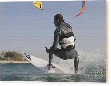 Kitesurfing Board Wood Print by Hagai Nativ