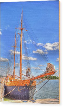 Know The Ropes Wood Print by Barry R Jones Jr