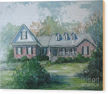 Wood Print featuring the painting Knox's Home Illustration by Gretchen Allen