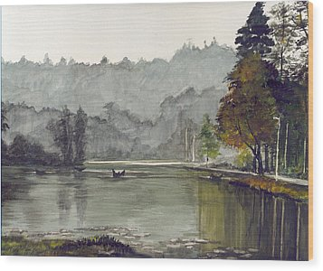 Koadaikanal Lake India Wood Print by Kuppuswami Sundar