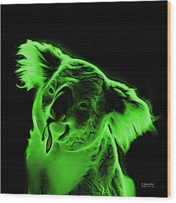 Koala Pop Art - Green Wood Print by James Ahn