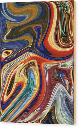 Koi Wood Print by Chris Butler