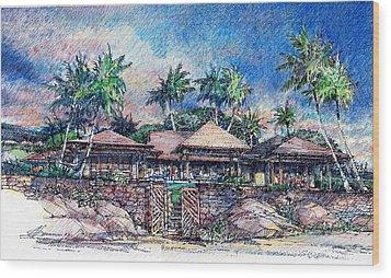 Kona Residence Wood Print by Andrew Drozdowicz
