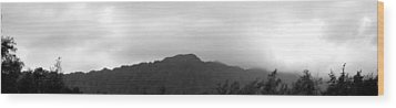 Koolau Range Wood Print by Elizabeth  Doran