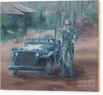 Korean War Hero Wood Print by Brenda Thour