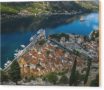 Wood Print featuring the photograph Kotor Montenegro by David Gleeson