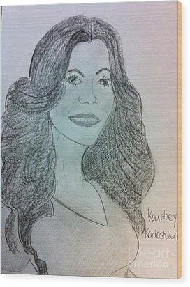 Kourtney Kardashian Wood Print by Charita Padilla