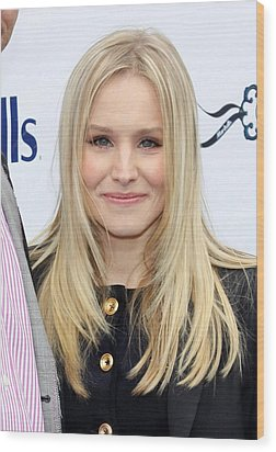 Kristen Bell At A Public Appearance Wood Print by Everett