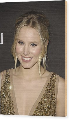 Kristen Bell At Arrivals For 12th Wood Print by Everett