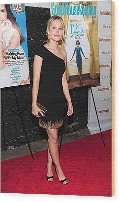 Kristen Bell Wearing A Monique Wood Print by Everett