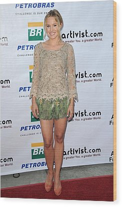 Kristen Bell Wearing An Alberta Wood Print by Everett