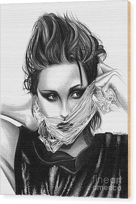 Kristen Stewart 2 Wood Print