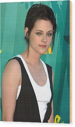 Kristen Stewart At Arrivals For Teen Wood Print by Everett