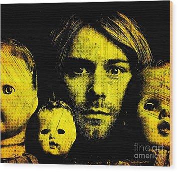 Kurt Cobain Wood Print by Ankeeta Bansal