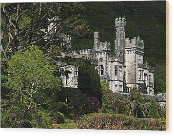 Kylemore Abbey, Connemara, County Wood Print by Peter Zoeller
