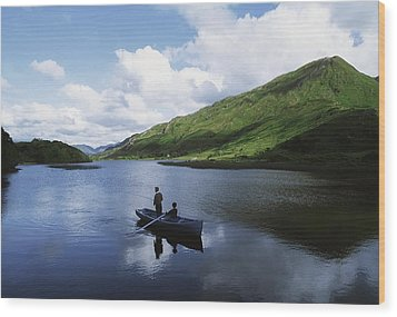 Kylemore Lake, Co Galway, Ireland Wood Print by The Irish Image Collection