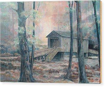 Kymulga Covered Bridge Wood Print by Gary Partin
