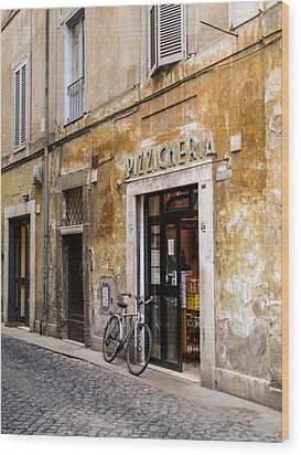 Wood Print featuring the photograph La Bicicletta by Marta Cavazos-Hernandez