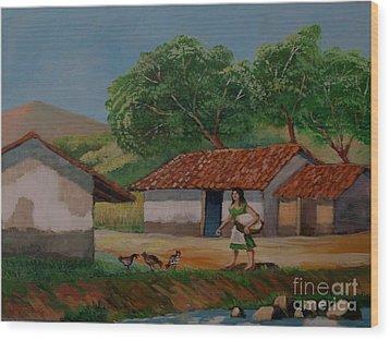 La Dama Del Rio Wood Print