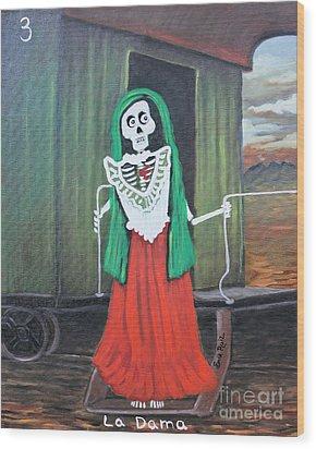 La Dama Wood Print by Sonia Flores Ruiz