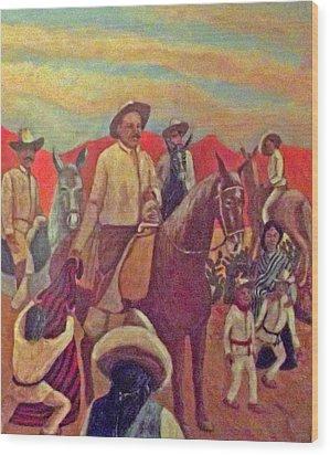 La Fiesta De San Martin De Caballo Wood Print by James R Sanchez