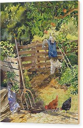 La Huerta Wood Print by Margaret Merry