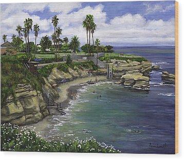 La Jolla Cove 2 Wood Print by Lisa Reinhardt