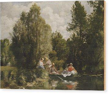 La Mare Aux Fees Wood Print by Pierre Auguste Renoir