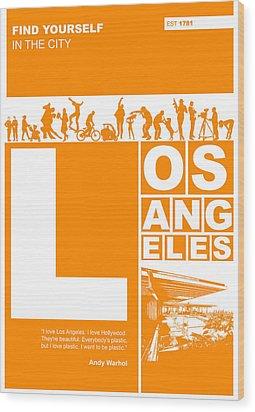 La Orange Poster Wood Print by Naxart Studio