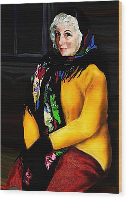 La Paysanne Russe Wood Print by Jann Paxton