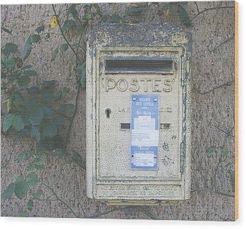 La Poste Wood Print by Georgia Fowler