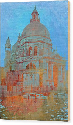 Wood Print featuring the photograph La Salute by Rod Jones