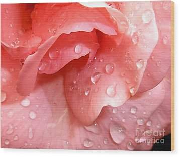 La Vie En Rose Wood Print by Jan Willem Van Swigchem