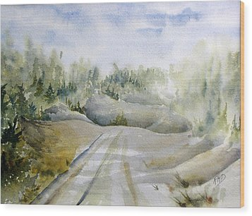 Labrador Wilderness Wood Print by Ramona Kraemer-Dobson