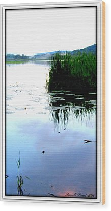 Wood Print featuring the photograph Lac William Quebec by Danielle  Parent