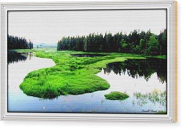 Lac Williams Quebec  Wood Print by Danielle  Parent