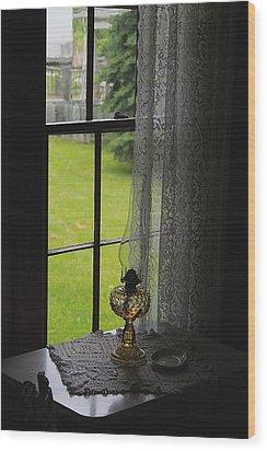Lace Curtains Wood Print by Scott Hovind