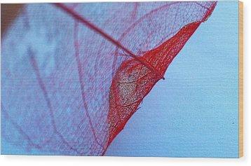 Lace Leaf 3 Wood Print
