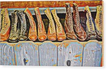 Laces Extraordinaire Wood Print