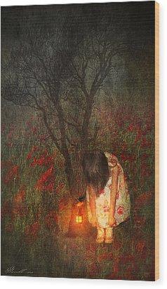 Laces Undone Wood Print by Svetlana Sewell