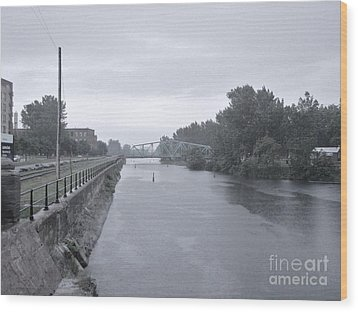 Lachine Canal At Atwater Wood Print