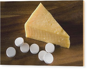 Lactase Enzyme Tablets Wood Print by Sheila Terry