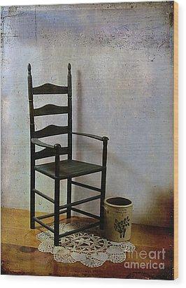 Ladderback Wood Print by Judi Bagwell