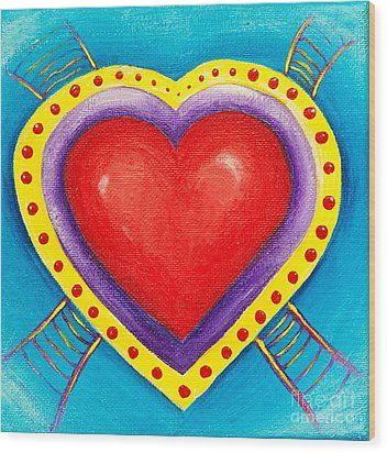 Ladders To Your Heart Wood Print by Melle Varoy