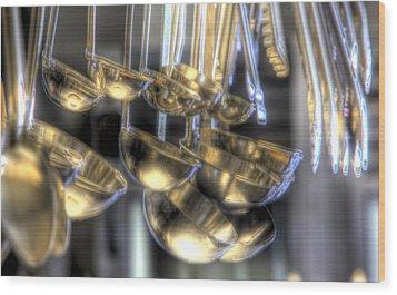 Ladles And Spoons Wood Print by Steve Gravano