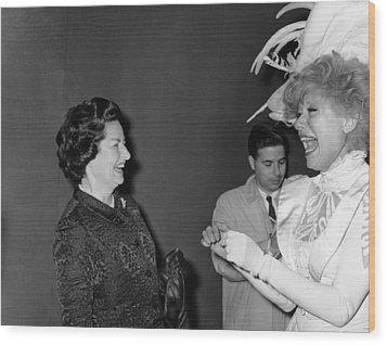 Lady Bird Johnson, Visiting Carol Wood Print by Everett