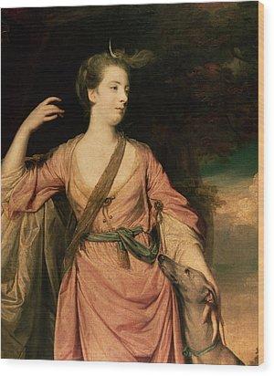 Lady Dawson Wood Print by Sir Joshua Reynolds